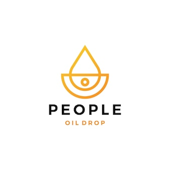 Mensen olie druppel logo vector pictogram illustratie