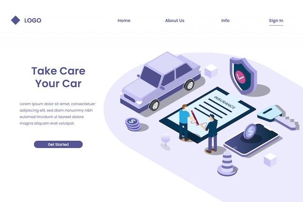 Mensen ondertekenen autoverzekeringscontracten om risico's te minimaliseren