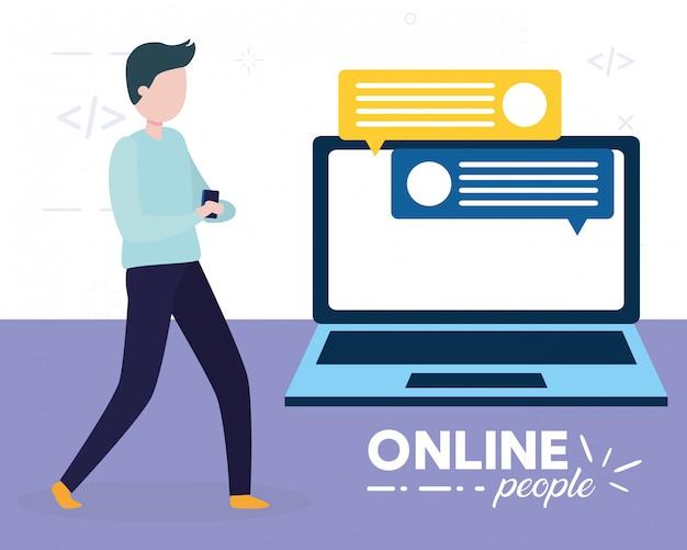 Mensen online gerelateerd