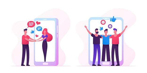 Mensen ontmoeten elkaar op internet