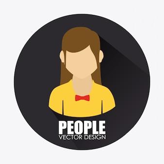 Mensen ontwerpen illustratie
