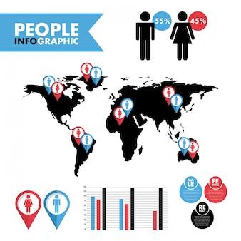 Mensen ontwerpen over witte achtergrond vectorillustratie