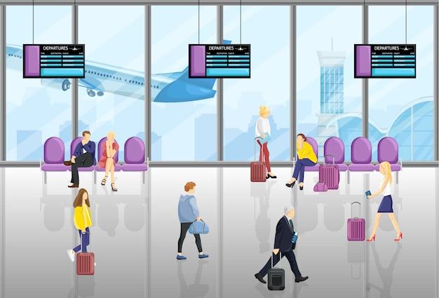 Mensen op de luchthaven
