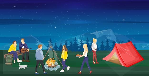 Mensen op een picknick