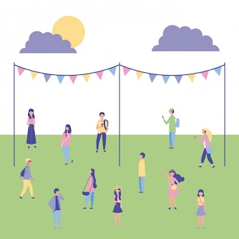 Mensen outdoor-activiteiten