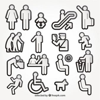 Mensen pictogrammen collectie