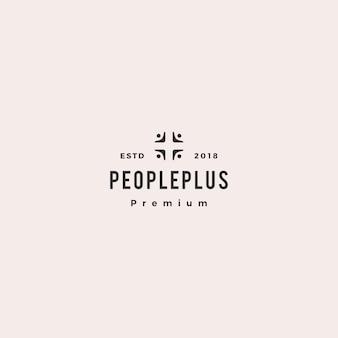 Mensen plus familie zorggroep logo pictogram