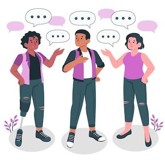 Mensen praten concept illustratie