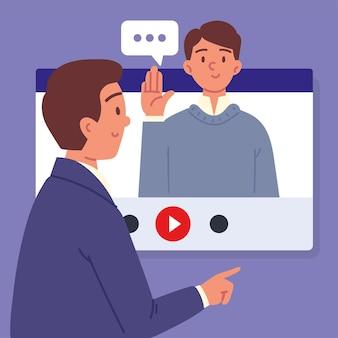 Mensen praten in sollicitatiegesprek