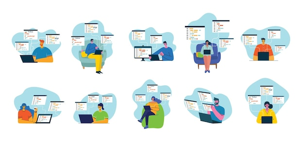 Mensen programmeren en coderen