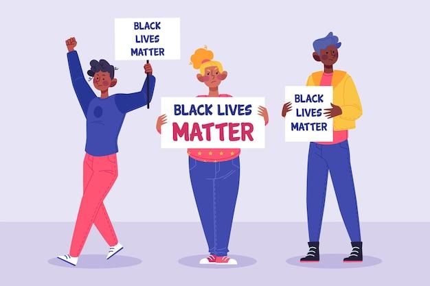 Mensen protesteren tegen racisme