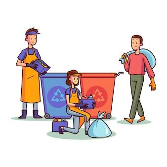 Mensen recyclen