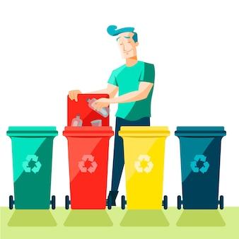 Mensen recycling concept