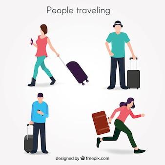 Mensen reizen collectie