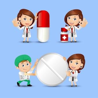 Mensen set beroep doktersset