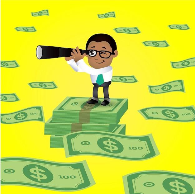 Mensen set business zakenman financiën set