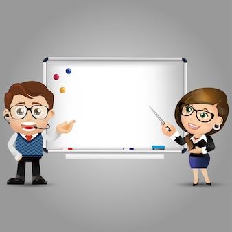 Mensen set onderwijs leraar vrouwen whiteboard