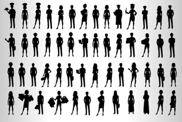 Mensen silhouetteren