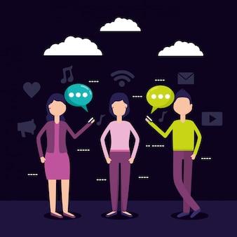 Mensen sociale media