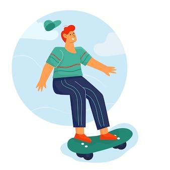 Mensen spelen skateboard