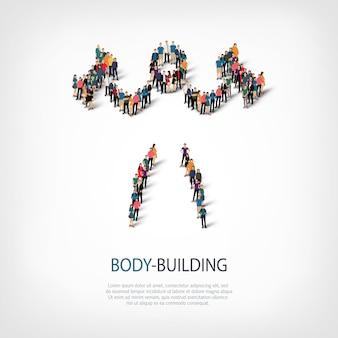Mensen sporten bodybuilding