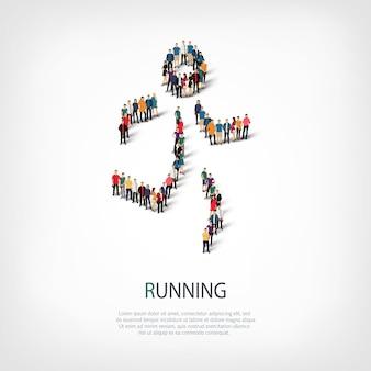 Mensen sporten hardlopen