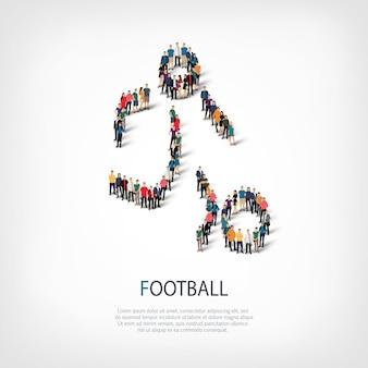 Mensen sporten voetbal