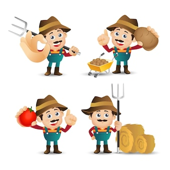 Mensen stellen beroep boer