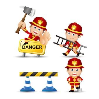 Mensen stellen beroep brandweerman in