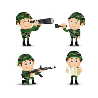 Mensen stellen beroep leger in