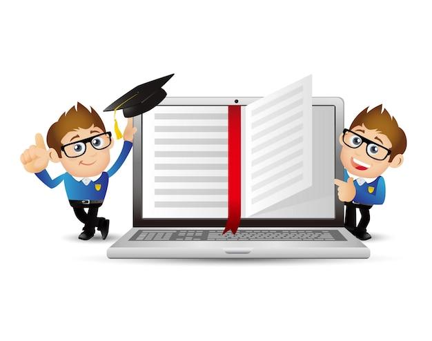 Mensen stellen e-learningconcept in