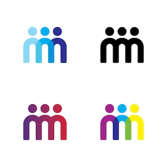 Mensen team logo ontwerp vector