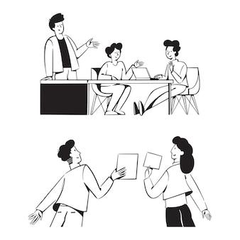 Mensen teamwerkactiviteiten voor opstarten bedrijfsconcept