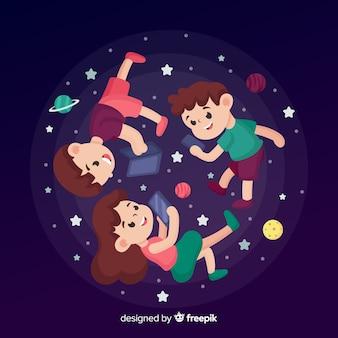 Mensen tegen zwaartekracht