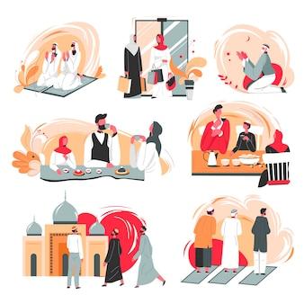 Mensen uit arabische landen, dagelijks leven en routine