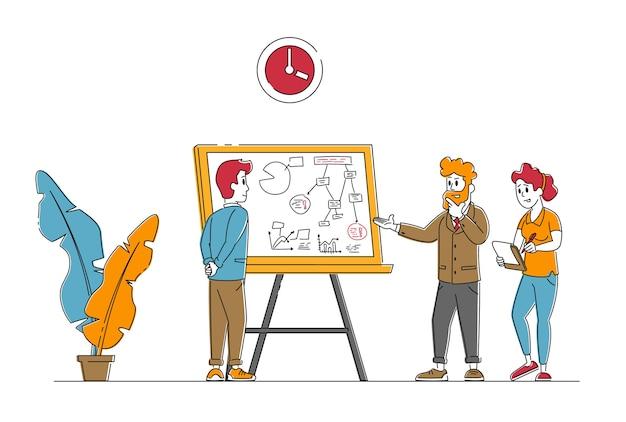 Mensen uit het bedrijfsleven bijeen in creatief kantoor