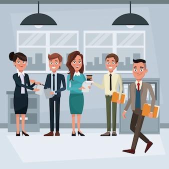 Mensen uit het bedrijfsleven binnen kantoor