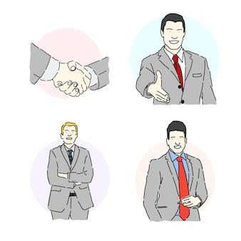 Mensen uit het bedrijfsleven concept set