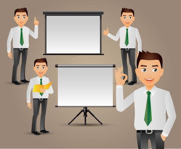 Mensen uit het bedrijfsleven die presentatie geven