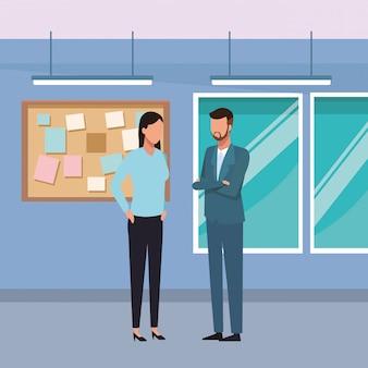 Mensen uit het bedrijfsleven en kantoor