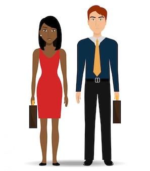 Mensen uit het bedrijfsleven en ondernemer