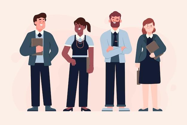 Mensen uit het bedrijfsleven geïllustreerd