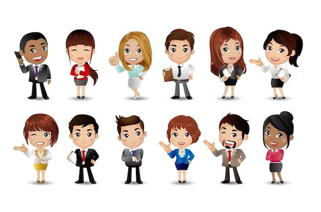 Mensen uit het bedrijfsleven groep avatars karakters vector