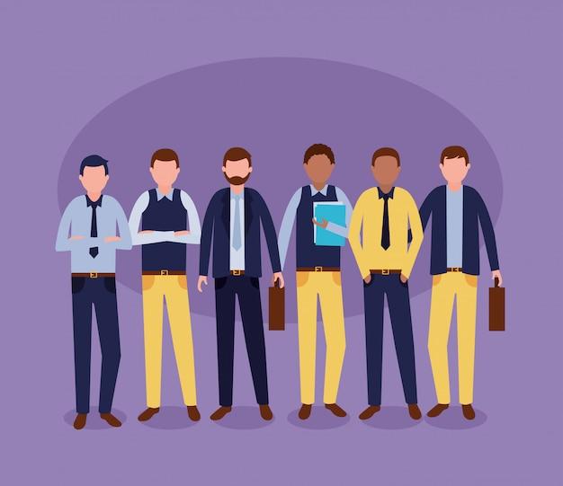 Mensen uit het bedrijfsleven groep