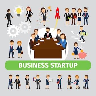 Mensen uit het bedrijfsleven groeperen vector