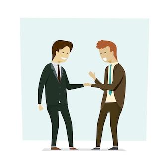 Mensen uit het bedrijfsleven handen schudden partners.