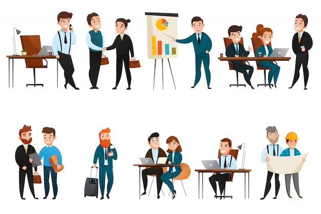 Mensen uit het bedrijfsleven icon set