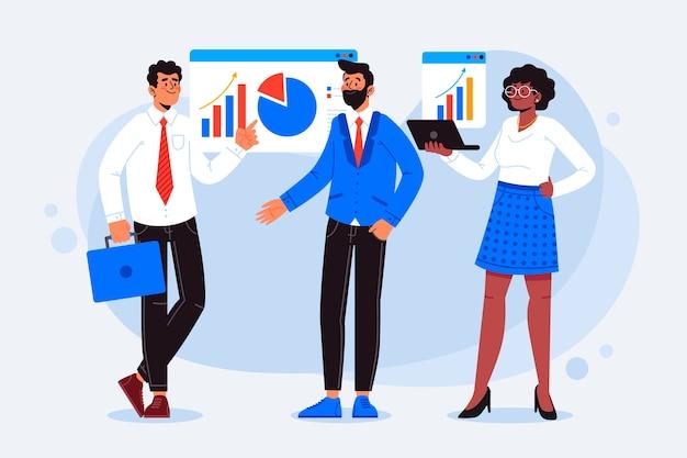 Mensen uit het bedrijfsleven illustratie concept