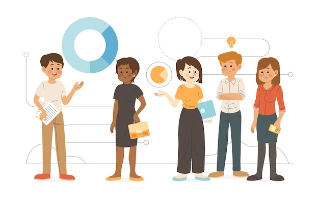 Mensen uit het bedrijfsleven illustratie