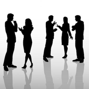 Mensen uit het bedrijfsleven in gesprek